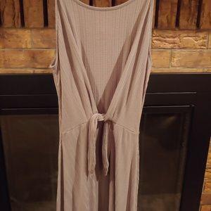 Women's taupe swing dress